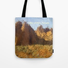 Valley of Fire, Nevada photo abstract Tote Bag