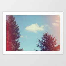 Collecting Clouds {goldfish} Art Print