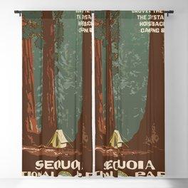 Vintage poster - Sequoia National ParkX Blackout Curtain