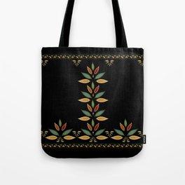 """Tree of Polka Dots Leaves (Black)"" Tote Bag"
