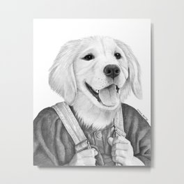 My Boy The Golden Retreiver Metal Print