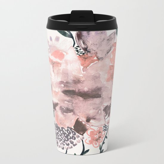 Summer Flowers Metal Travel Mug