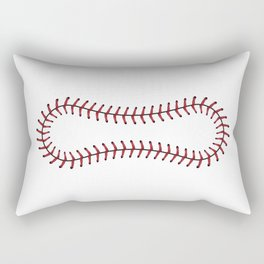 Baseball Lace Background Rectangular Pillow