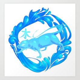 2015 Zodiac- Water Rat Art Print