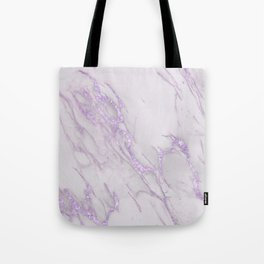 Marble Love Purple Metallic Tote Bag