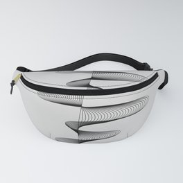Abstract 80s Soundwave Art Music Audio black and white Musical design home wall bedroom decor Art Pr Fanny Pack