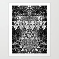 triangles Art Prints featuring TRIANGLES. by Council for design.
