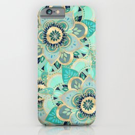 Gilded Emerald Enamel iPhone Case