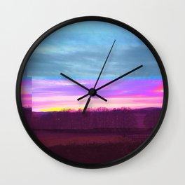 CandyFloss Skies Wall Clock