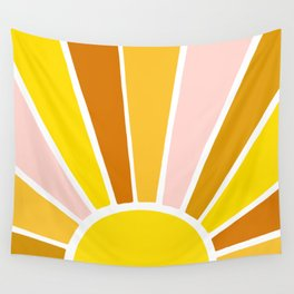 Sun Ray Burst Wall Tapestry