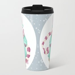 Bunny Sister Out On a Winter Day Travel Mug