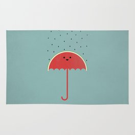 Watermelon Umbrella Rug
