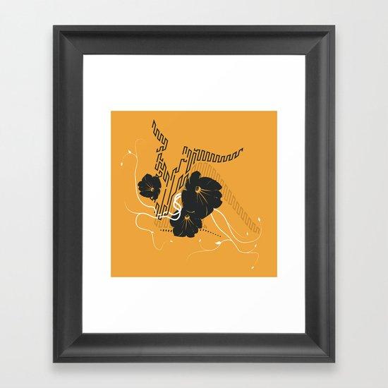 Untitled Art - Orange Framed Art Print