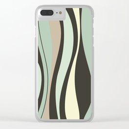 Retro Waves Clear iPhone Case