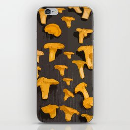 Chantterelles On A Dark Grey Background - Autumn Harvest - #Society6 #buyart iPhone Skin