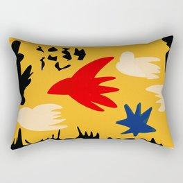 Yellow day abstract african art Rectangular Pillow