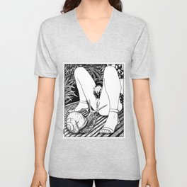 asc 476 - Le regard de l'escargot (The fertility) Unisex V-Neck