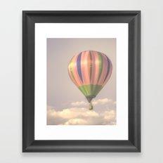 Magical pink balloon Framed Art Print