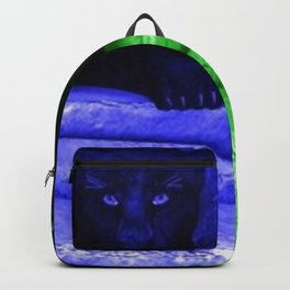 Black panther in colors Backpack