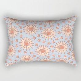 Carousel Blue Retro Rectangular Pillow