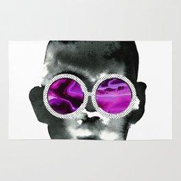 Face in glasses Rug