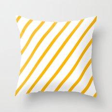 Yellow summer stripes Throw Pillow