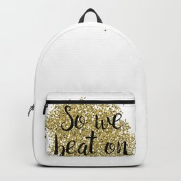 So we beat on - golden jazz Backpack