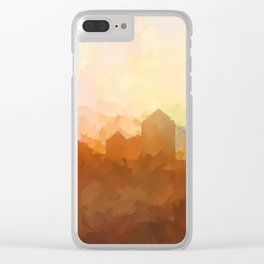 Albuquerque, New Mexico Skyline - Clouds Clear iPhone Case