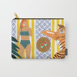How To Vacay With Your Tiger #illustration Carry-All Pouch