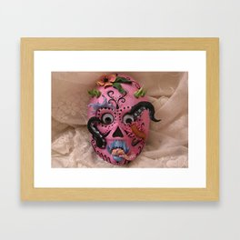 hurricane mask Framed Art Print