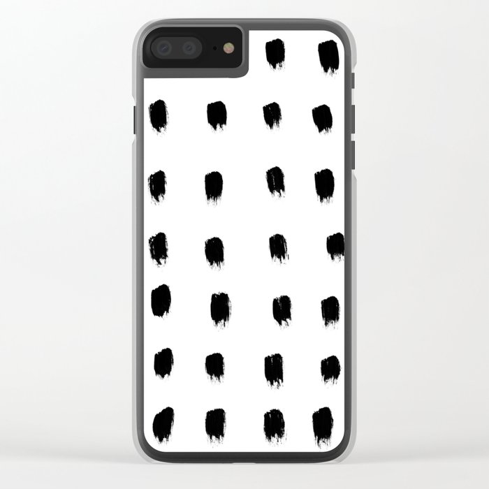 Jacques Pattern Clear iPhone Case
