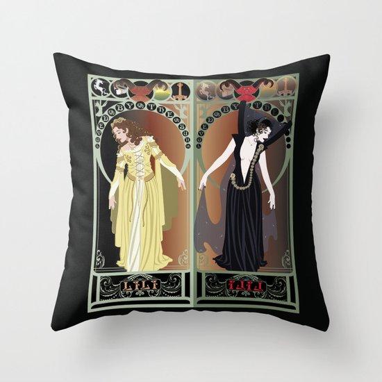 Legend Nouveau - Mirrored Throw Pillow
