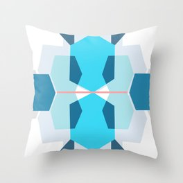 Blue Body sculpt hexagons Throw Pillow