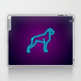 NEON BOXER DOG Laptop & iPad Skin