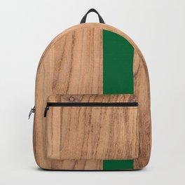 Wood Grain Stripes Green #319 Backpack