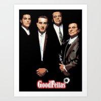 goodfellas Art Prints featuring GOODFELLAS by Rocky Rock