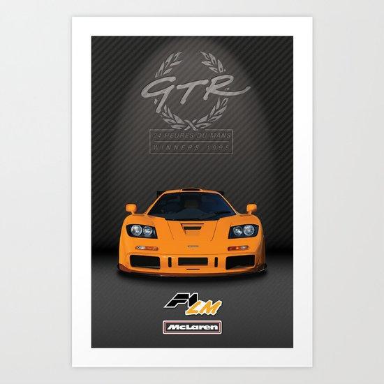 1995 McLaren F1 LM  Art Print