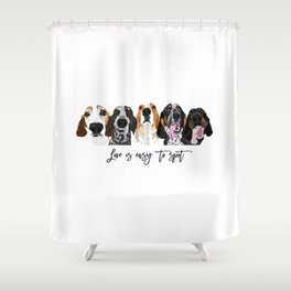 Love is easy to spot Shower Curtain