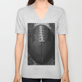 Big American Football - black &white Unisex V-Neck