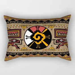 Colorful Hunab Ku Mayan symbol #5 Rectangular Pillow