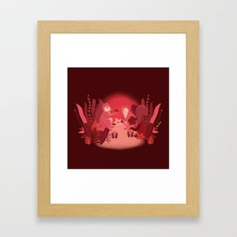 Squirrels in Love Framed Art Print
