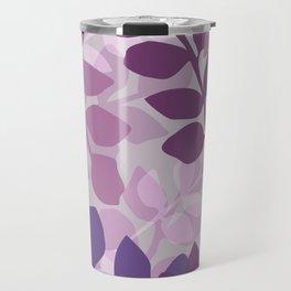 Ultra Violet Purple Lavender Leaves Pattern Travel Mug