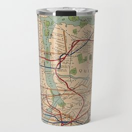 New York City Metro Subway System Map 1954 Travel Mug