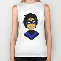 nightwing Biker Tanks featuring Robin I - Nightwing by Tristan Sites