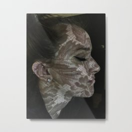 Lace Shadow Metal Print