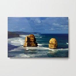 Limestone Rock Stacks & Headlands Metal Print