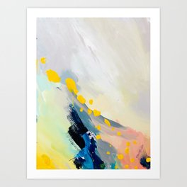 Returning III, Detail 03 Abstract Painting Canvas Art Print