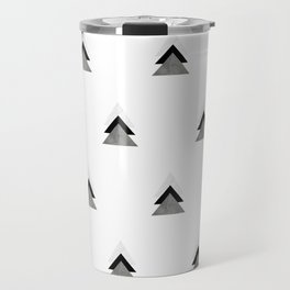 Arrows Collages Monochrome Pattern Travel Mug