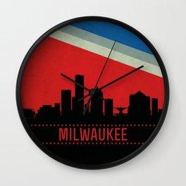 Milwaukee Skyline Wall Clock