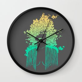 Silhouette gradient of a girl Wall Clock